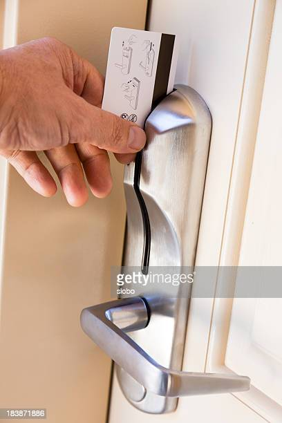 cardkey hotel door - hotel key stock photos and pictures