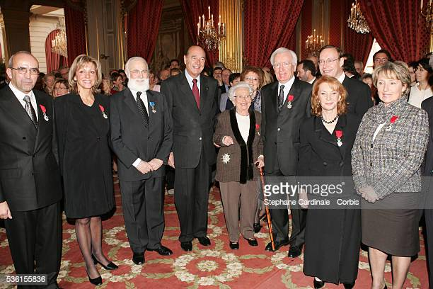 A Cardoso Christine Caron David Messas Jacques Chirac Christiane DesrochesNoblecourt JeanMichel Hubert Lucie Saint Clair and Catherine Pericard...