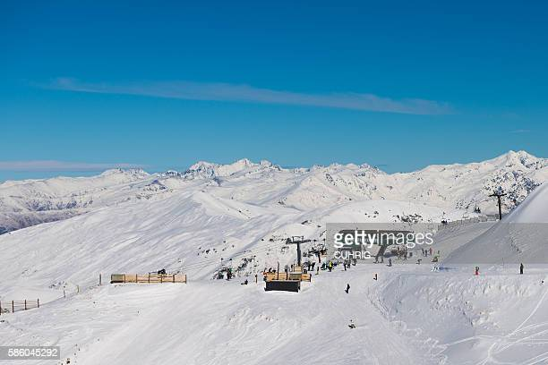 Cardrona Mountain Panorama with Whitestar Express