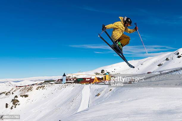 Cardrona Mountain Resort with freestyle skier