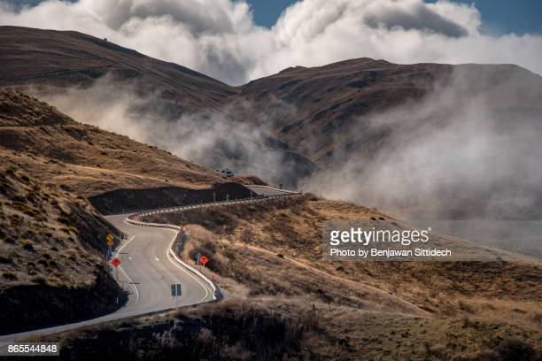 Cardrona Valley Road or Crown Range Highway, New Zealand