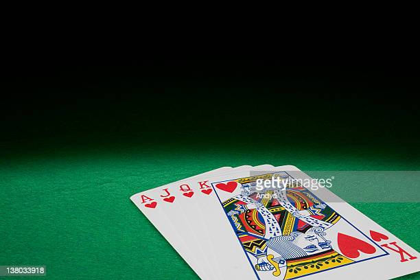 cards - queen of hearts stock photos and pictures