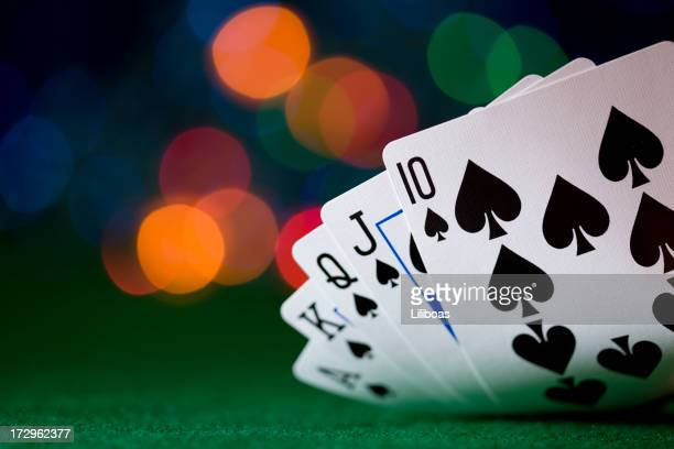 cards (xxl) - poker card game stock photos and pictures