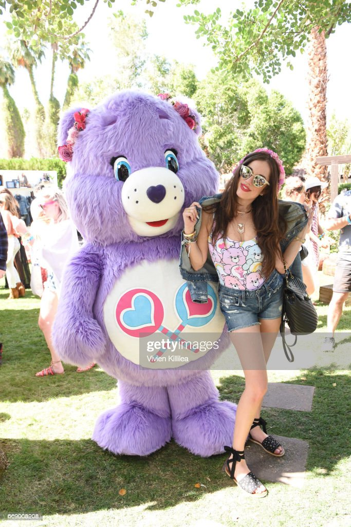 A Care Bear and DJ Rose attend Lucky Lounge Presents Desert Jam on April 15, 2017 in Palm Springs, California.