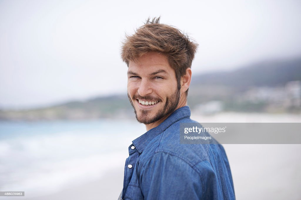 Care to join me for a walk on the beach? : Stock Photo