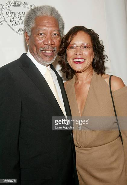 Career Achievement winner, actor Morgan Freeman and wife Myrna attend the National Board Of Review Of Motion Pictures 2003 Annual Awards Gala at...