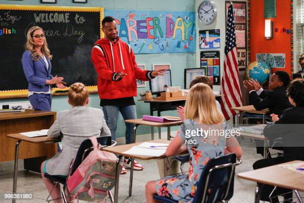 MARLON 'Career Day' Episode 209 Pictured Christina Moore as Miss Fyre Marlon Wayans as Marlon Wayne Amir O'Neil as Zack Wayne