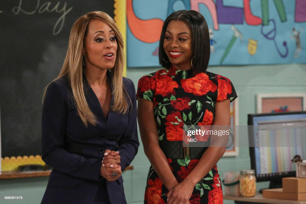 MARLON -- 'Career Day' Episode 209 -- Pictured (l-r) Essence Atkins as Ashley Wayne, Bresha Webb as Yvette --