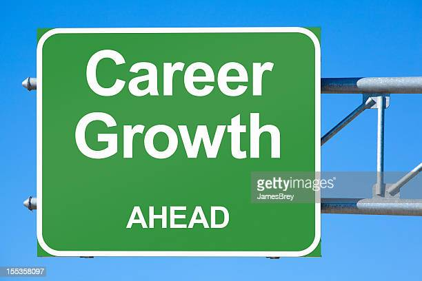Career Growth Ahead Highway exit Sign