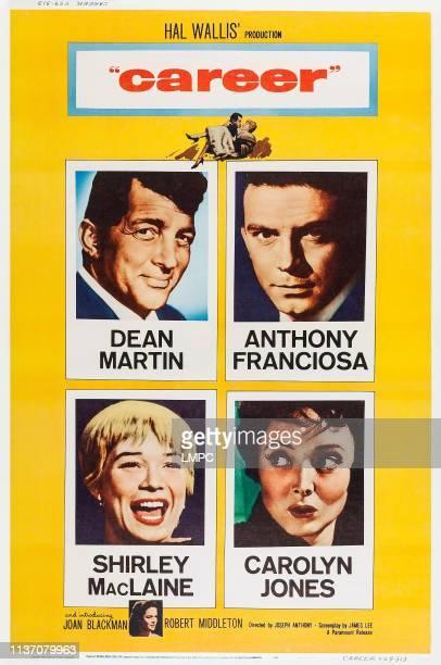 Dean Martin Anthony Franciosa Carolyn Jones Shirley MacLaine bottom Joan Blackman on poster art 1959