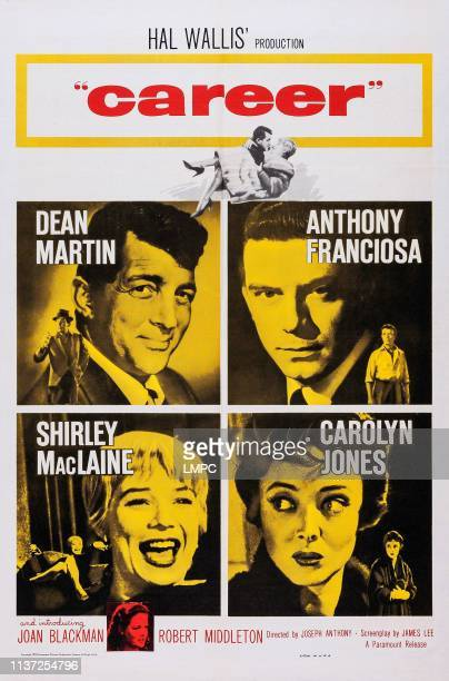 Career poster US poster art clockwise from top left Dean Martin Anthony Franciosa Carolyn Jones Shirley MacLaine bottom inset Joan Blackman 1959