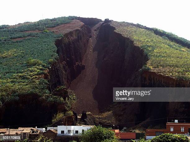 careers volcanic canary island - cave in collapsing stock photos and pictures