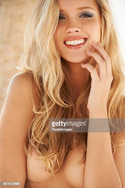 care-free beauty - big cleavage stock photos and pictures