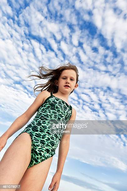 Carefree young girl at the beach