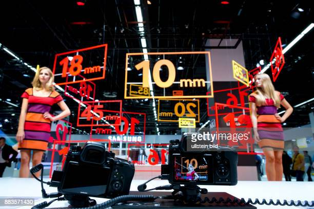 Carefully designed Samsung booth at the trade fair Photokina in Cologne