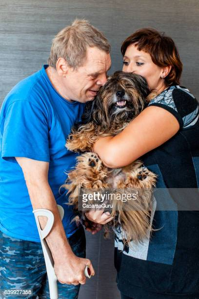 Caregiver and a man with a Down Syndrome Portrait