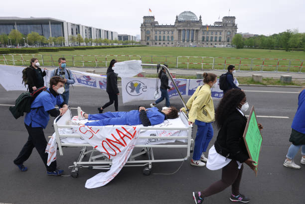 DEU: Caregivers Protest On International Caregivers Day For Better Working Conditions