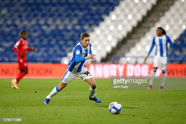 Carel Eiting of Huddersfield Town during the Sky Bet Championship match between Huddersfield Town and Nottingham Forest at John Smith's Stadium on...