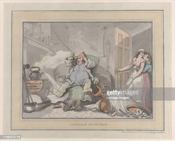 Careless Attention, February 1, 1789. Artist Thomas Rowlandson.