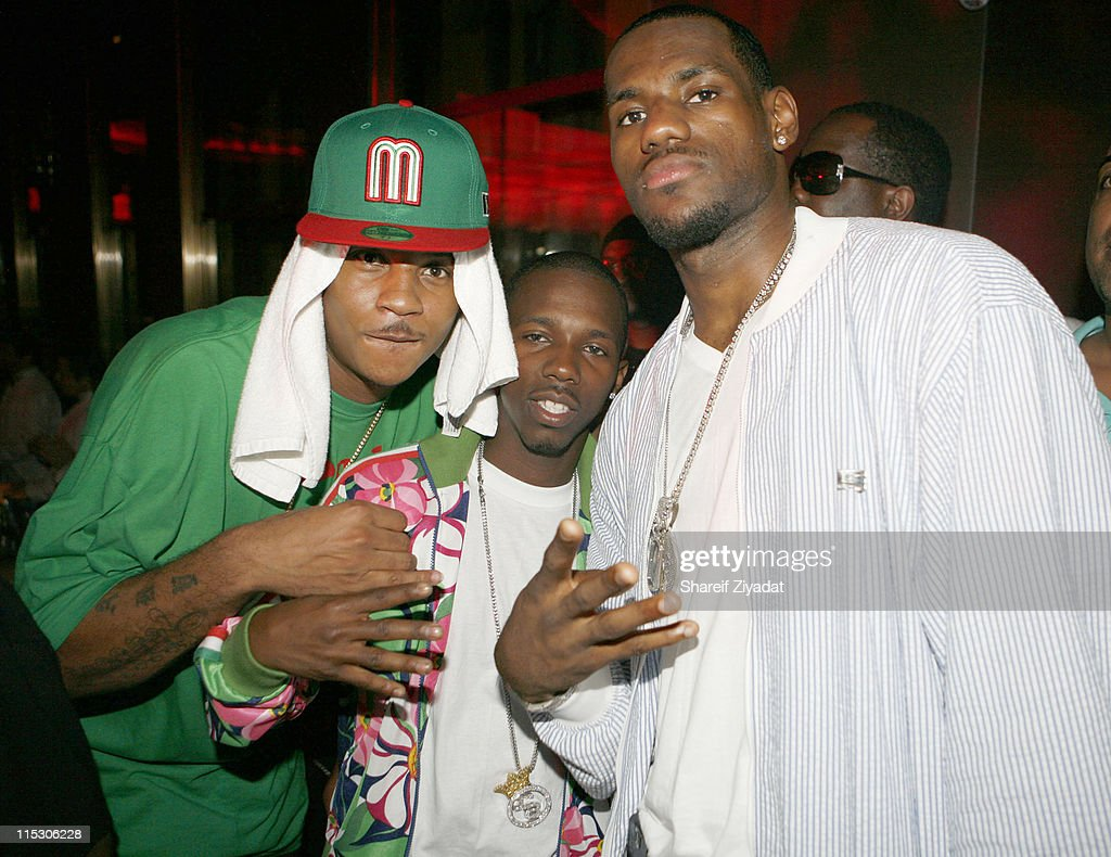 Caremlo Anthony and Lebron James during Jay-Z Celebrates the 10th Anniversary of 'Reasonable Doubt' - Inside at Rainbow Room in New York, United States.