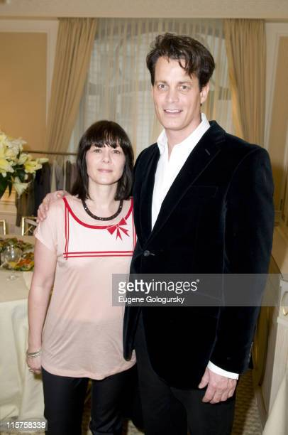 Caren Downie and Matthew Mellon at Matthew Mellon Noelle Reno host the Degrees of Freedom Lunch during MercedesBenz Fashion Week on February 6 2008...