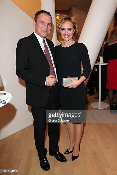 Caren Miosga and her husband Tobias Grob during the opening concert of the Elbphilharmonie concert hall on January 11, 2017 in Hamburg, Germany.