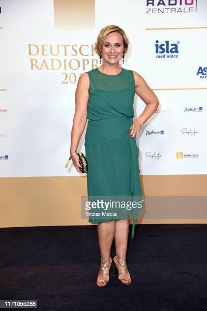 Caren Miosga attends the Deutscher Radiopreis at Elbphilharmonie on September 25, 2019 in Hamburg, Germany.