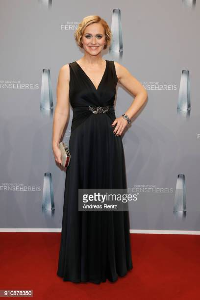 Caren Miosga attends the German Television Award at Palladium on January 26, 2018 in Cologne, Germany.