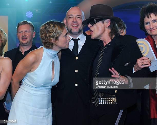 Caren Miosga Der Graf and Udo Lindenberg attend After Show Party of Deutscher Radiopreis 2012 at 'Schuppen 52' on September 6 2012 in Hamburg Germany