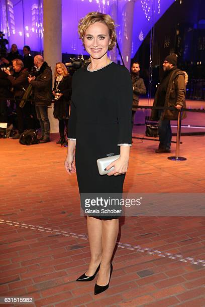 Caren Miosga during the opening concert of the Elbphilharmonie concert hall on January 11 2017 in Hamburg Germany