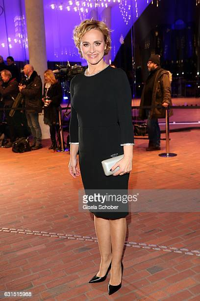 Caren Miosga during the opening concert of the Elbphilharmonie concert hall on January 11, 2017 in Hamburg, Germany.