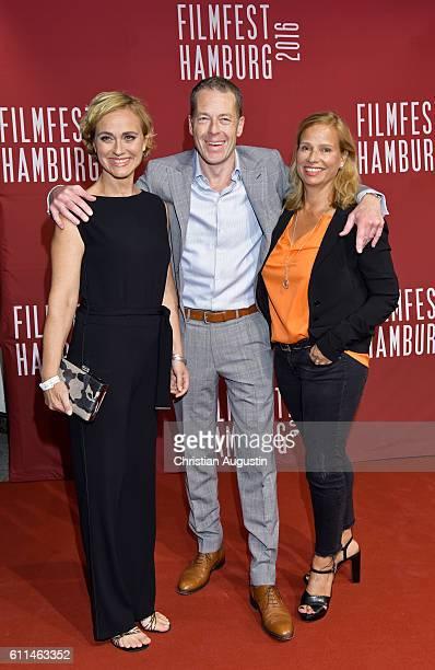 Caren Miosga Oliver Sauer and Jennifer Schellack attend the premiere of 'Amerikanisches Idyll' during the opening night of Hamburg Film Festival 2016...