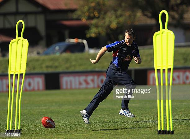 Caretaker coach Paul Williams in action during a Western Bulldogs AFL training session at Whitten Oval on August 24, 2011 in Melbourne, Australia.