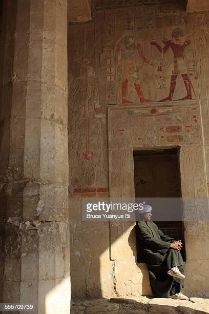 A caretaker in Mortuary temple of Hatshepsut
