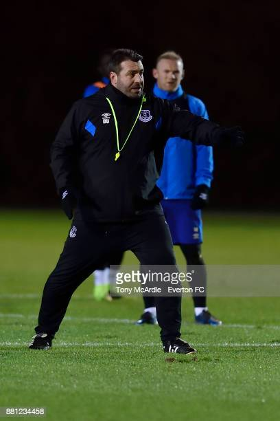 Caretaker manager David Unsworth during the Everton training session at USM Finch Farm on November 28 2017 in Halewood England