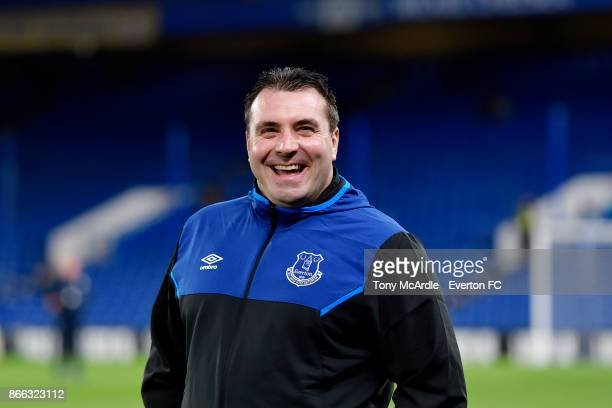 Caretaker manager David Unsworth of Everton before the Carabao Cup Fourth Round match between Chelsea and Everton at Stamford Bridge on October 25...