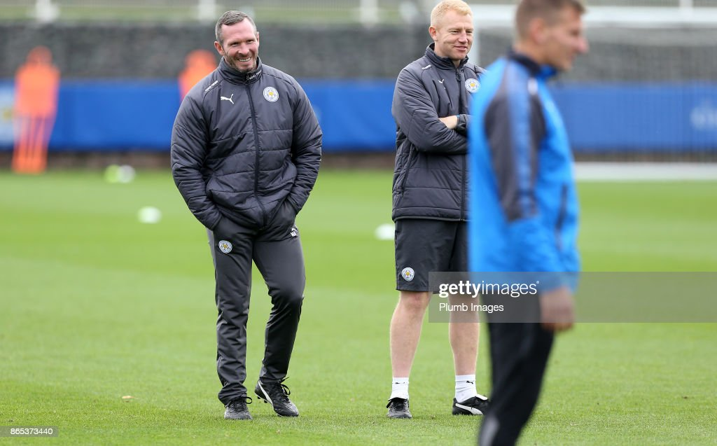 Caretaker manager Michael Appleton during the Leicester City training session at Belvoir Drive Training Complex on October 23 , 2017 in Leicester, United Kingdom.