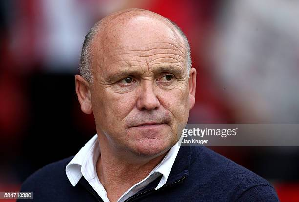 Caretaker manager of Hull City Mike Phelan looks on during the preseason friendly match between Nottingham Forest and Hull City at City Ground on...