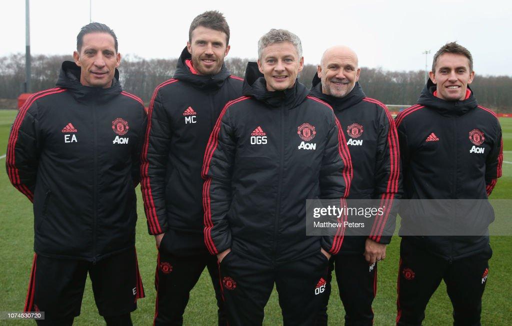 Manchester United Unveil New Caretaker Manager Ole Gunnar Solskjaer : News Photo