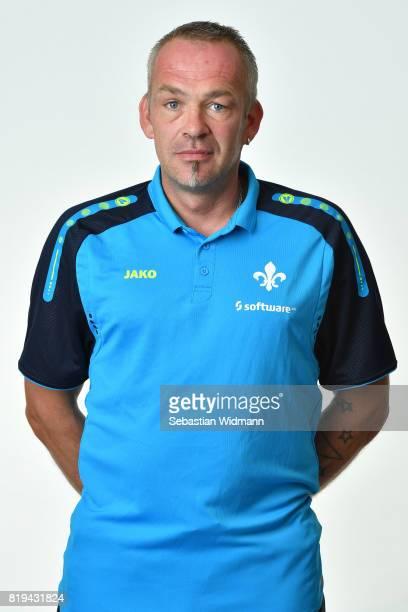 Caretaker Michael Richter of SV Darmstadt 98 poses during the team presentation at MerckStadion am Boellenfalltor on July 20 2017 in Darmstadt Germany