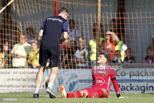 caretaker Paul Jongmans of NAC Breda NAC Breda goalkeeper Aro Muric during the Preseason Friendly match between Konyaspor and NAC Breda at Sportpark...