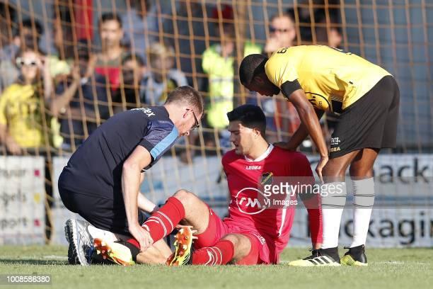 caretaker Paul Jongmans of NAC Breda NAC Breda goalkeeper Aro Muric Fabian Sporkslede of NAC Breda during the Preseason Friendly match between...