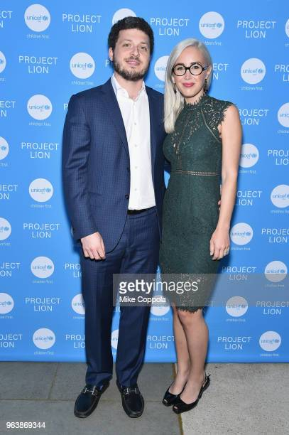Carey Dorman and Sterling McDavid attend the Launch of UNICEF's Project Lion at The Highline Hotel on May 30 2018 in New York City