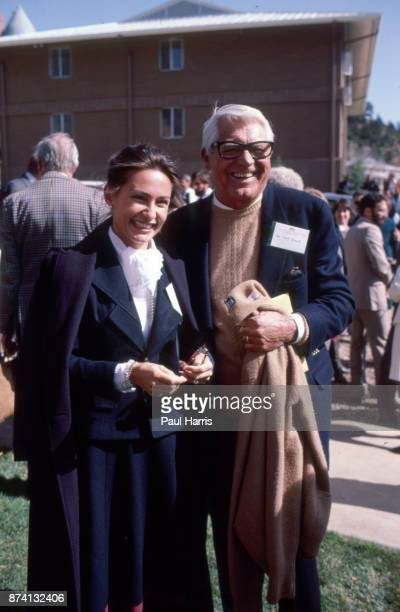 Carey Grant with his wife Barbara Harris in Los Angeles they married in April 1981 She was a young publicrelations officer working for Faberge in the...