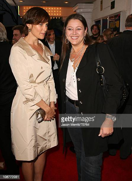 Carey Lowell and Camryn Manheim during The Hoax Los Angeles Premiere Red Carpet at Mann Festival in Westwood California United States