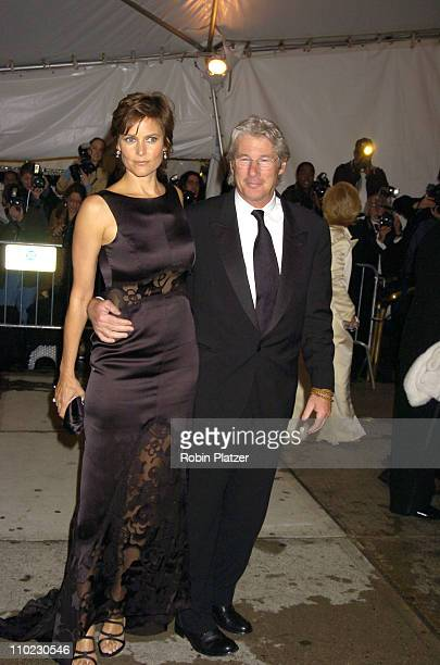 Carey Lowell and husband Richard Gere during The Costume Institute's Gala Celebrating Chanel at The Metropolitan Museum of Art in New York City New...