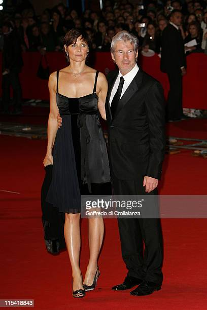 Carey Lowell and Richard Gere during 1st Annual Rome Film Festival 'The Hoax' Premiere at Auditorium Parco della Musica in Rome Italy