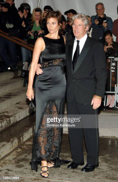 Carey Lowell and Richard Gere during Chanel Costume Institute Gala at The Metropolitan Museum of Art Arrivals at The Metropolitan Museum of Art in...