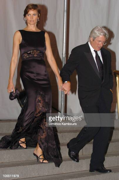 Carey Lowell and Richard Gere during Chanel Costume Institute Gala at The Metropolitan Museum of Art Departures at The Metropolitan Museum of Art in...