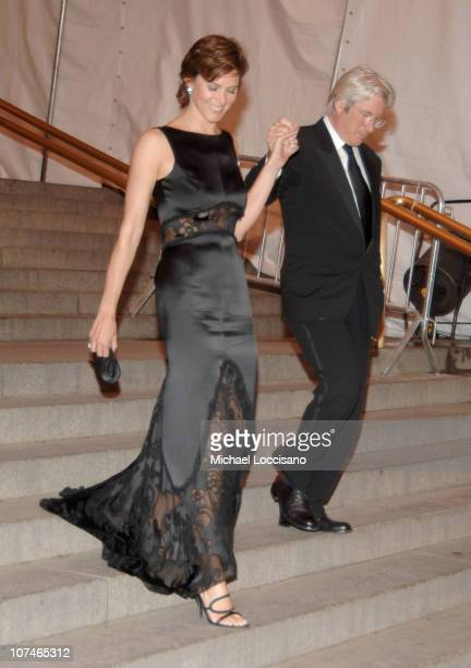 Carey Lowell and Richard Gere during Chanel Costume Institute Gala Opening at the Metropolitan Museum of Art Departures at The Metropolitan Museum of...